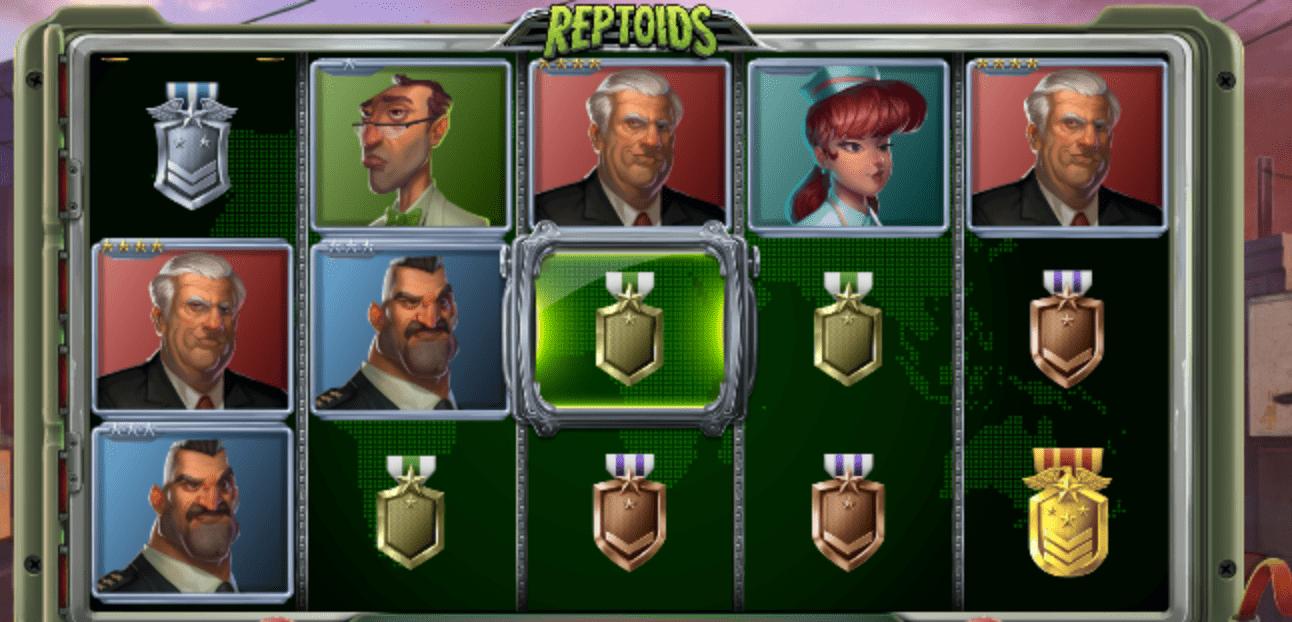 reptoids slots game play
