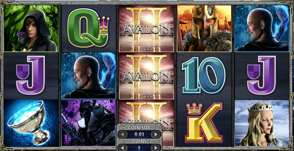 avalon ii quest grail slots