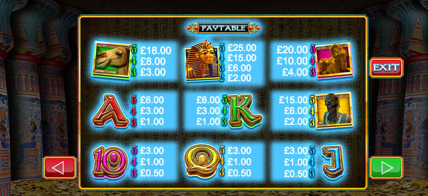 pharaoh's wild game online slots
