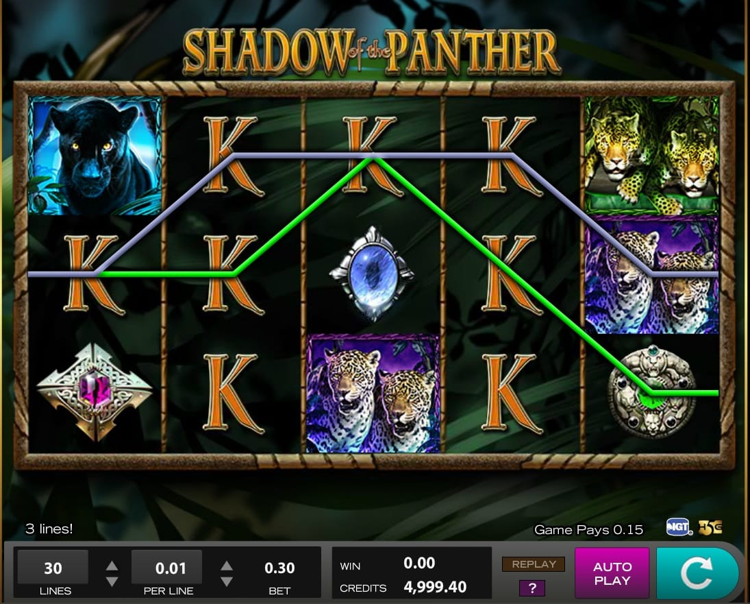 Shadow of the Panther slots UK