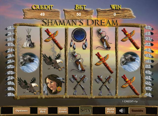 Shamans Dream Video Slot