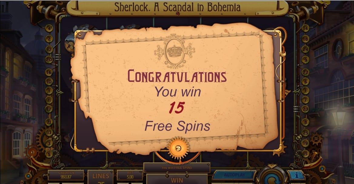 Sherlock: A Scandal in Bohemia Slots Reels