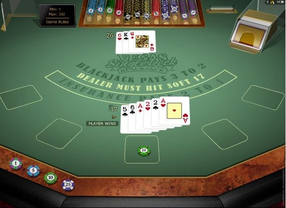 Vegas Single Deck Blackjack Game