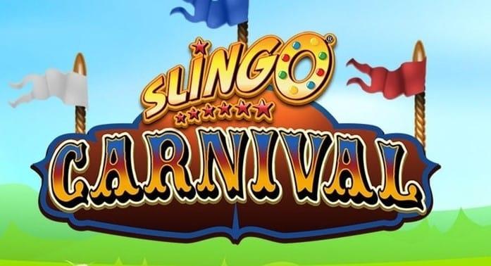 Slingo Carnival Slot Logo Mega Reel