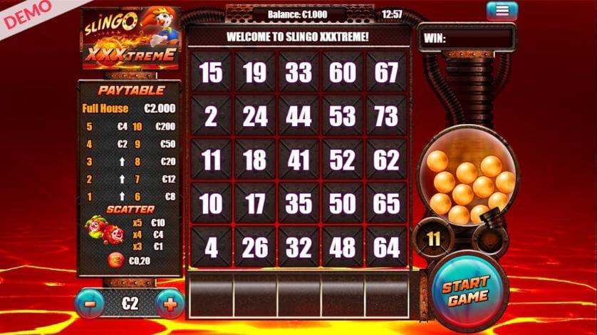 Slingo XXXtreme Slot Gameplay