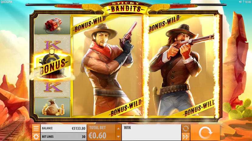 Sticky Bandits Slots Reels