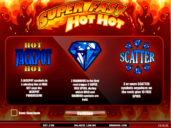 Super Fast Hot Hot Slots Casino