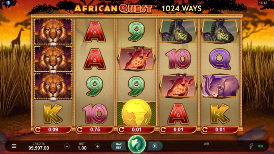 African Quest Slots UK Casino