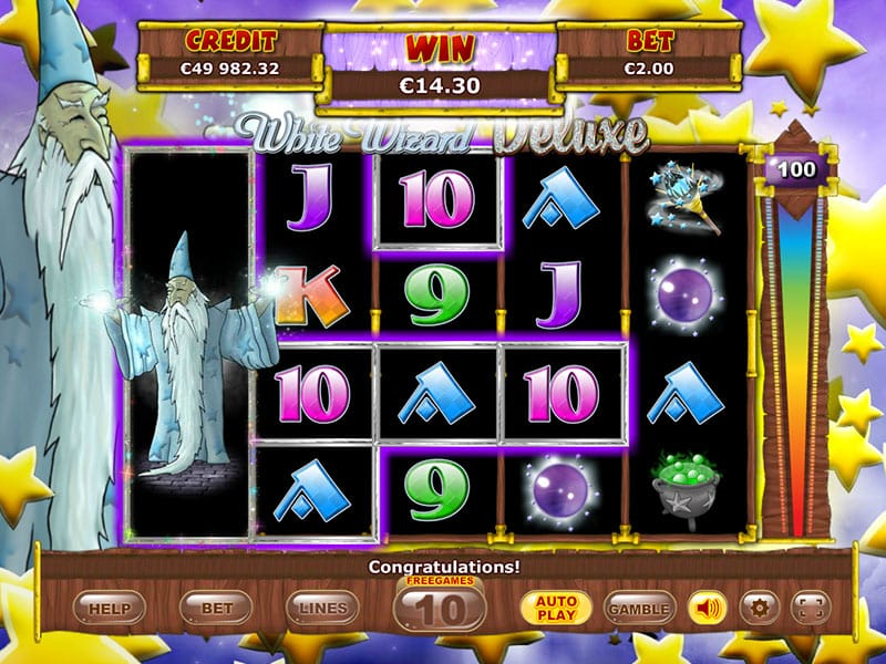White Wizard Deluxe slots