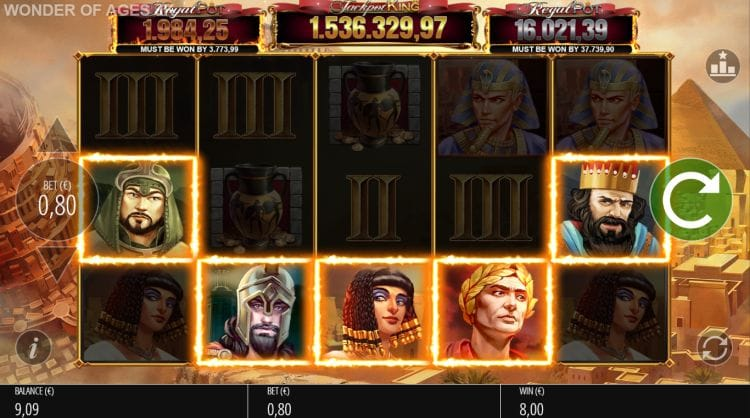 Wonder of Ages Jackpot King Slots