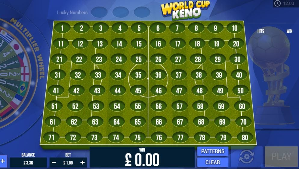 World Kup Keno Casino Game