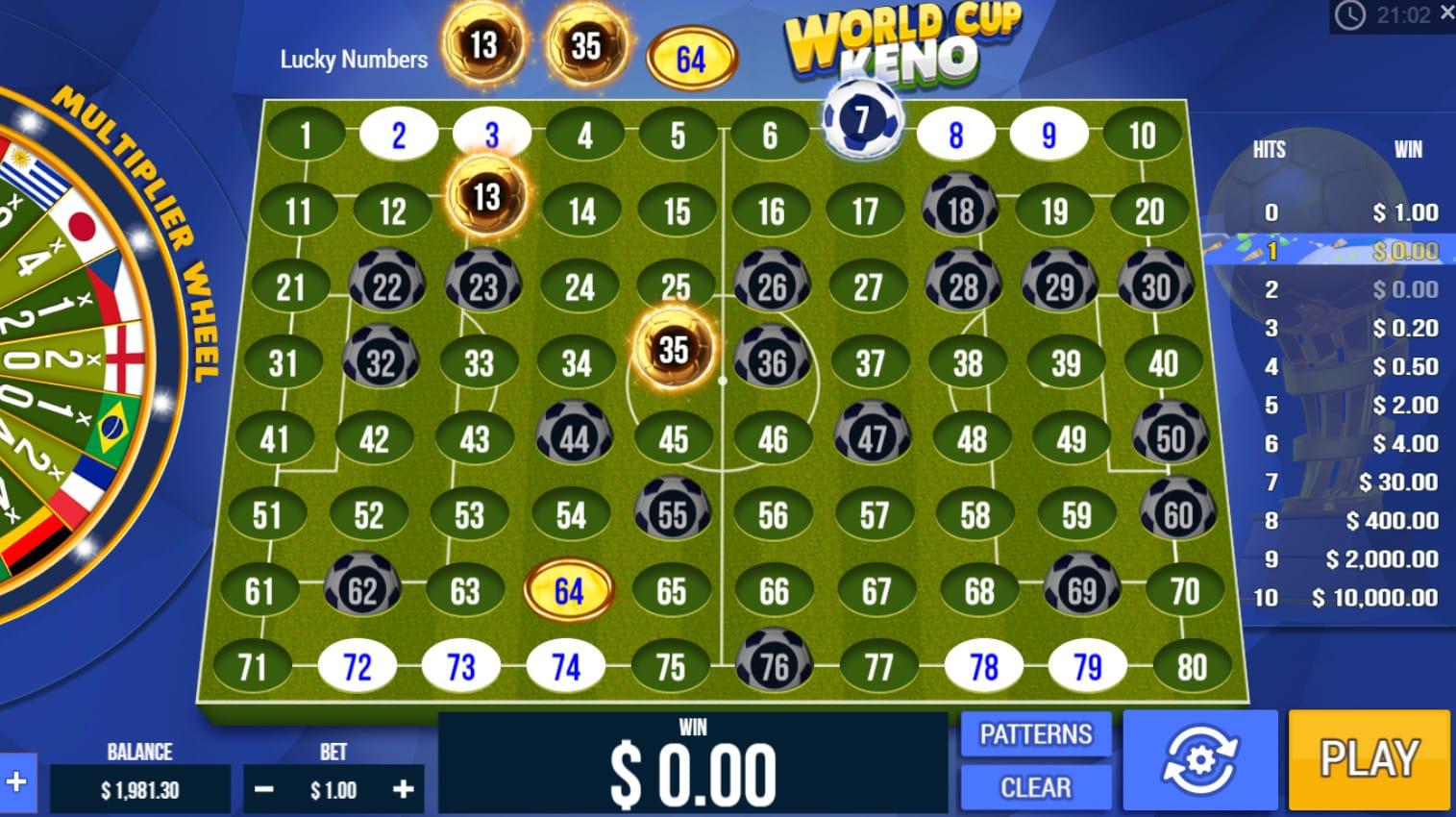 World Kup Keno Game