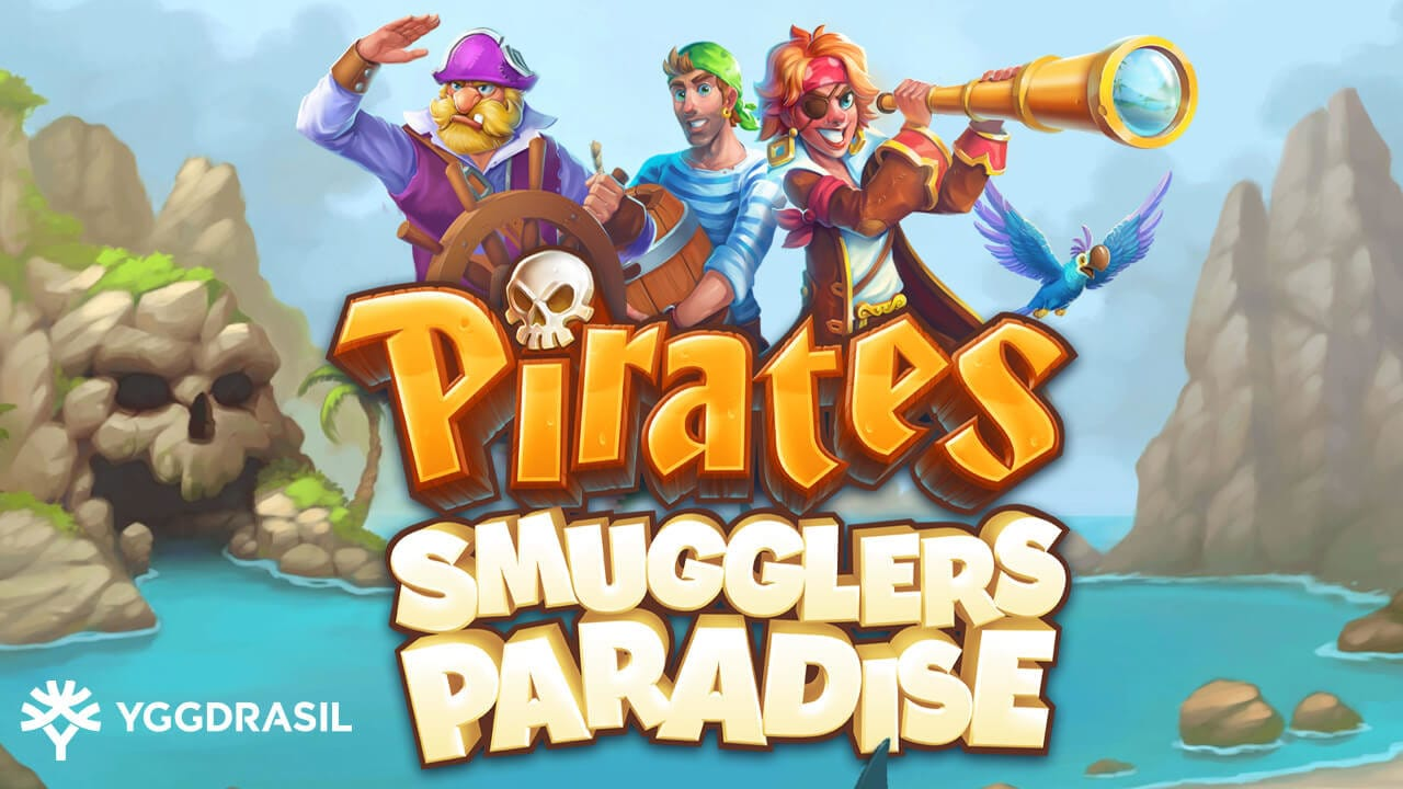 Pirates Smugglers Paradise Slot Logo Mega Reel