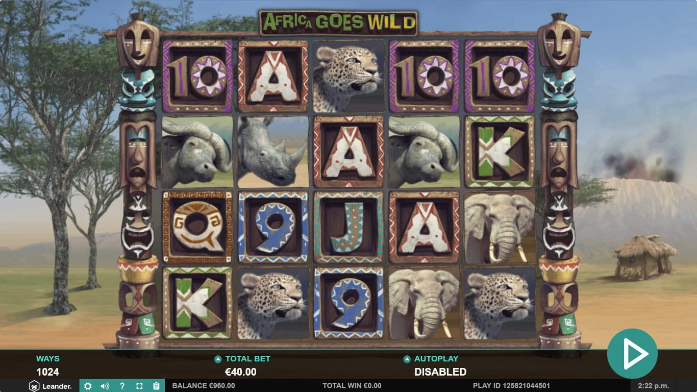 Africa Goes Wild Slots Online