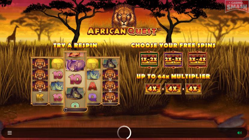 African Quest Slot Symbols Bonuses