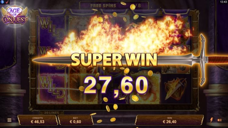 Age of Conquest Slots Super Win