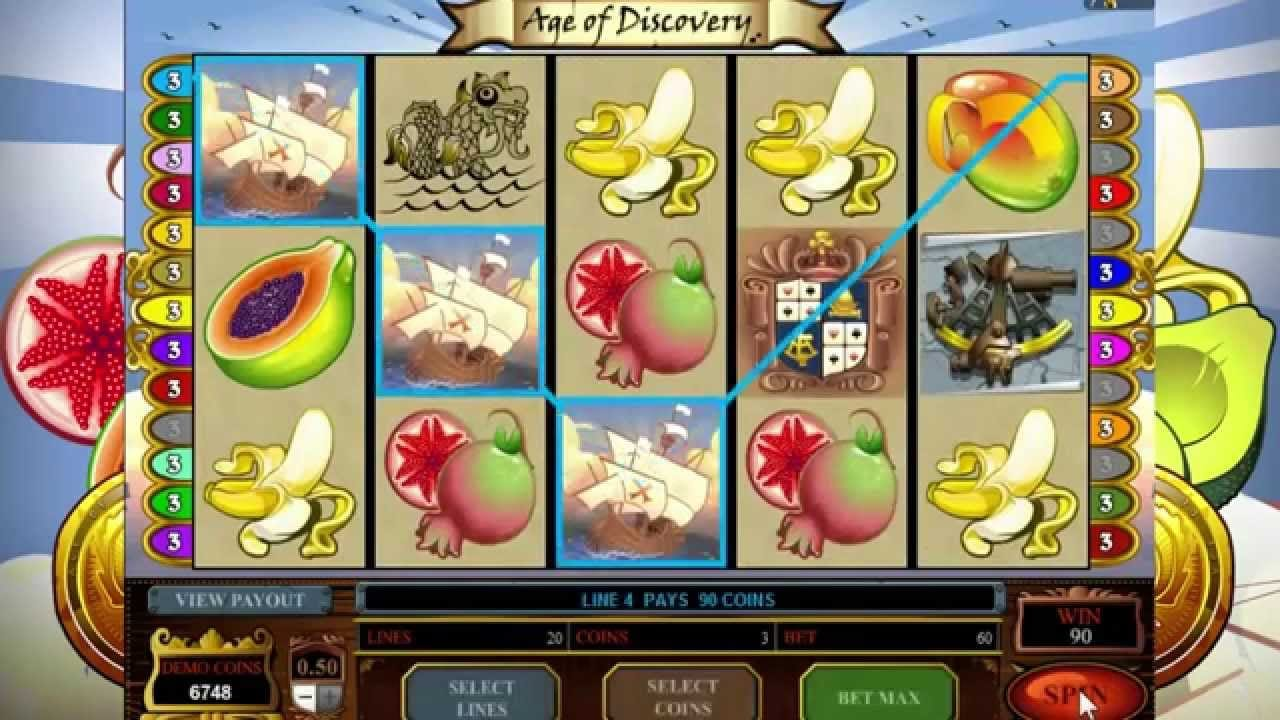 Gameplay from Age of Discovery slot