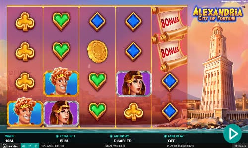 Alexandria City of Fortune Slots Reels