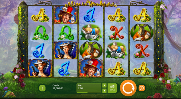 alice in wonderslots gameplay