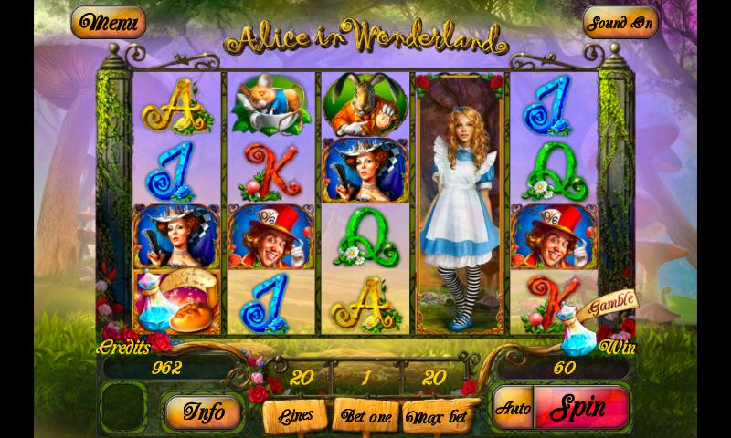 alice in wonderslots online casino