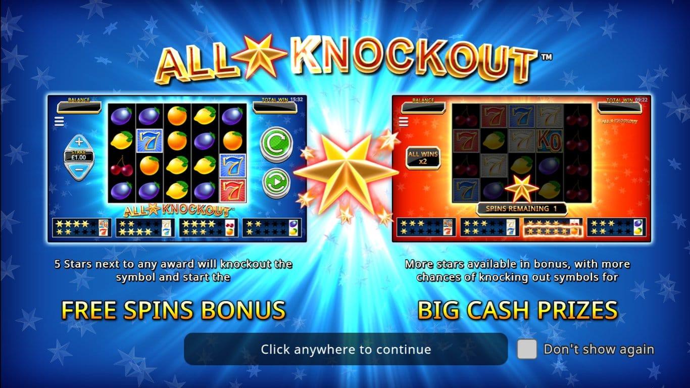 All Star Knockout Slot Bonus Features