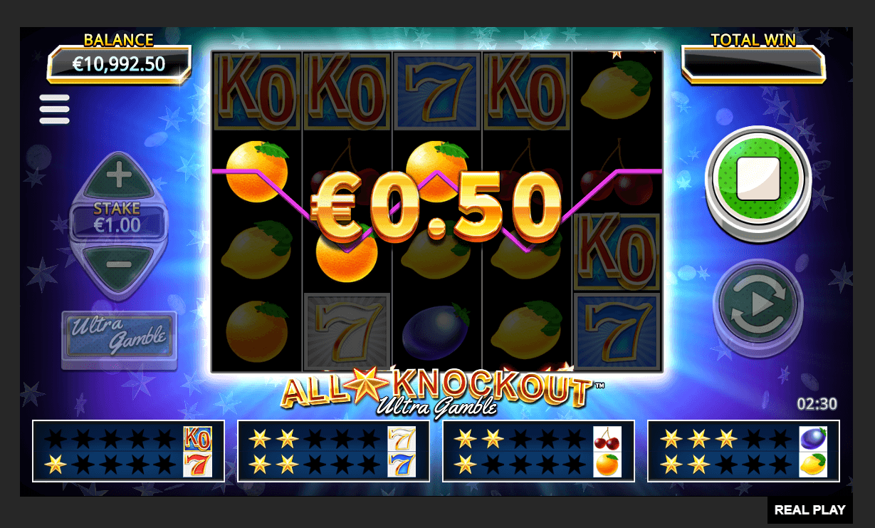 All Star Knockout Ultra Gamble Slot Online