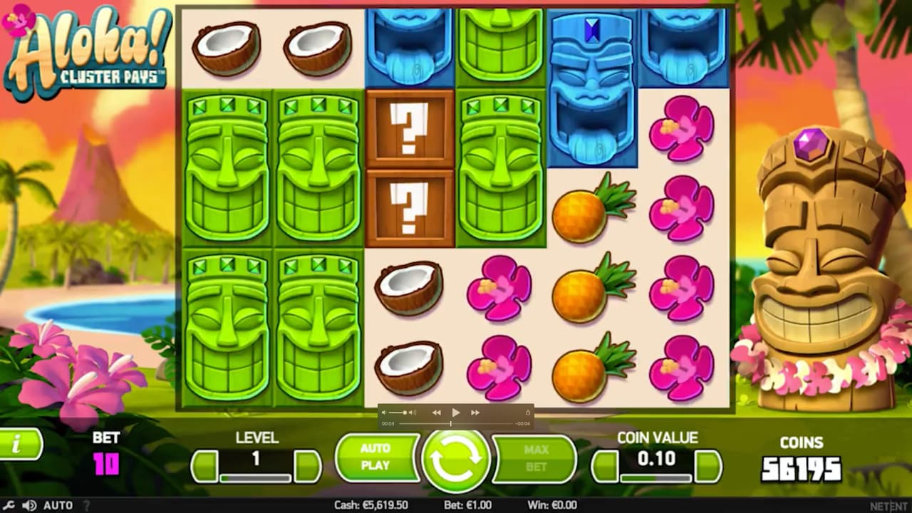 Aloha! Cluster Pays Slots Game