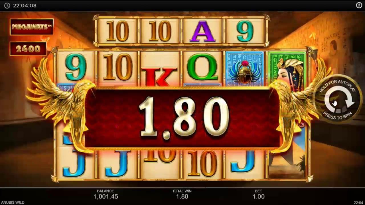 Anubis Wild MegaWays Slots Win