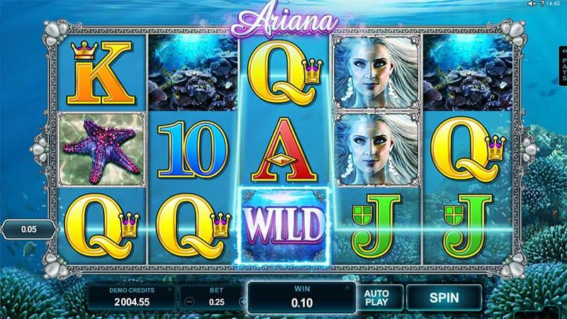 Screenshot from Ariana slot game