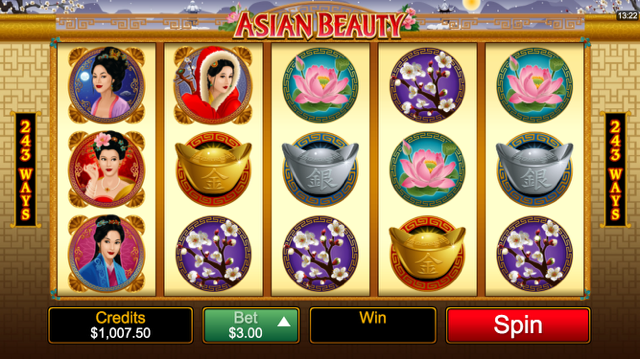 Asian Beauty slot screenshot