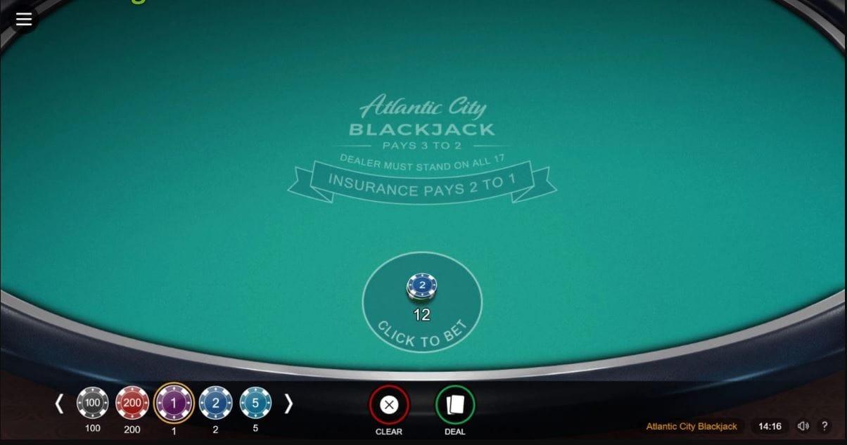 Atlantic City Blackjack Game