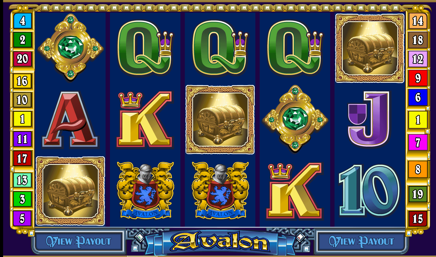 Gameplay from Avalon online slot