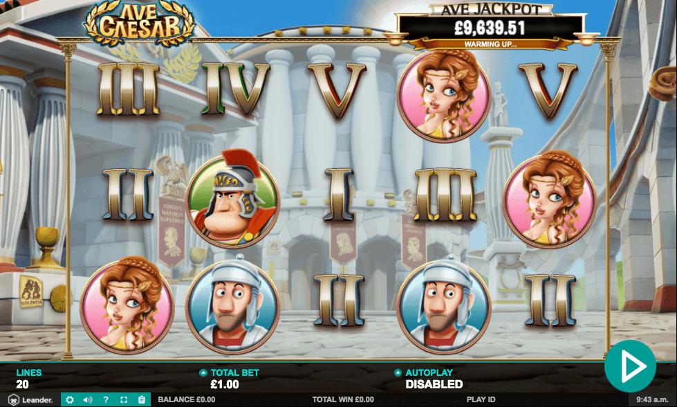 Ave Caesar Jackpot gameplay