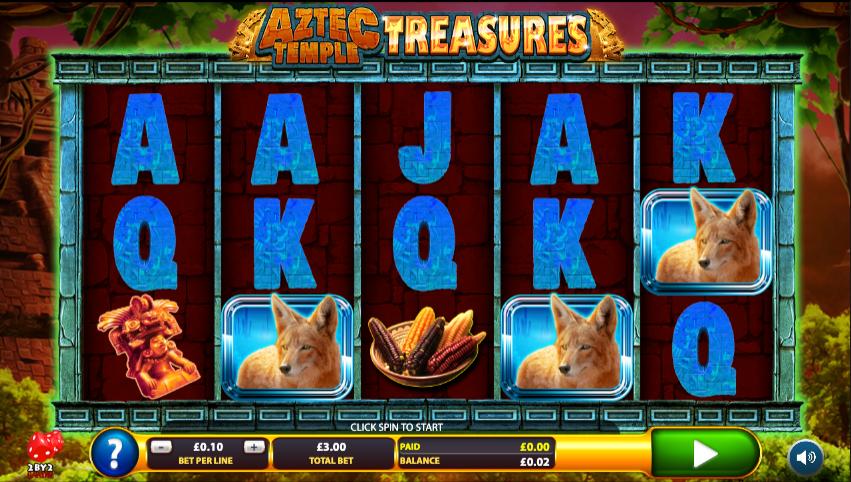 Aztec Temple Treasures casino gameplay