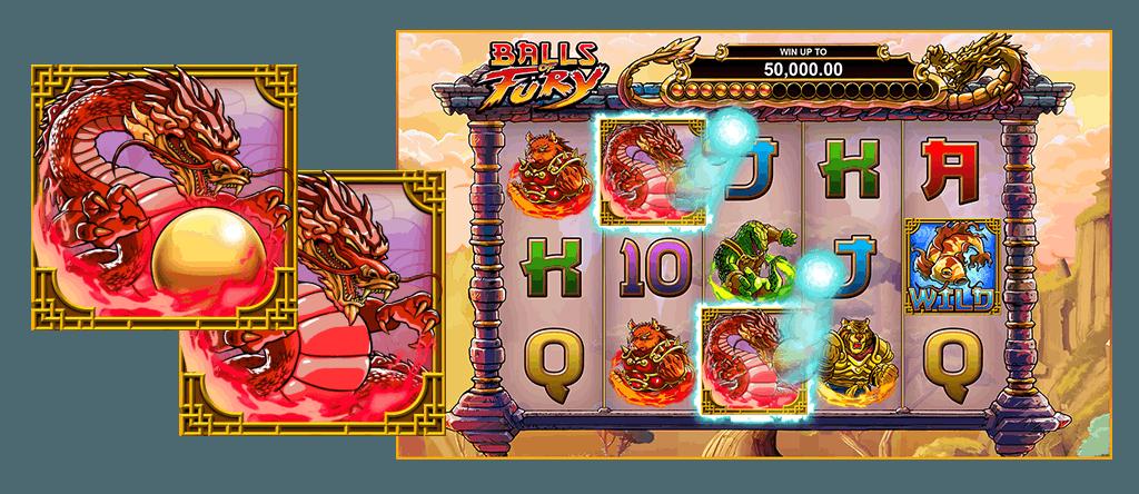 Balls of Fury Slot Symbols