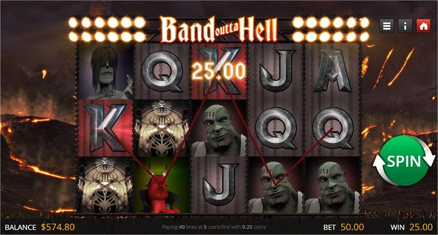 Band Outta Hell Slot Game Play