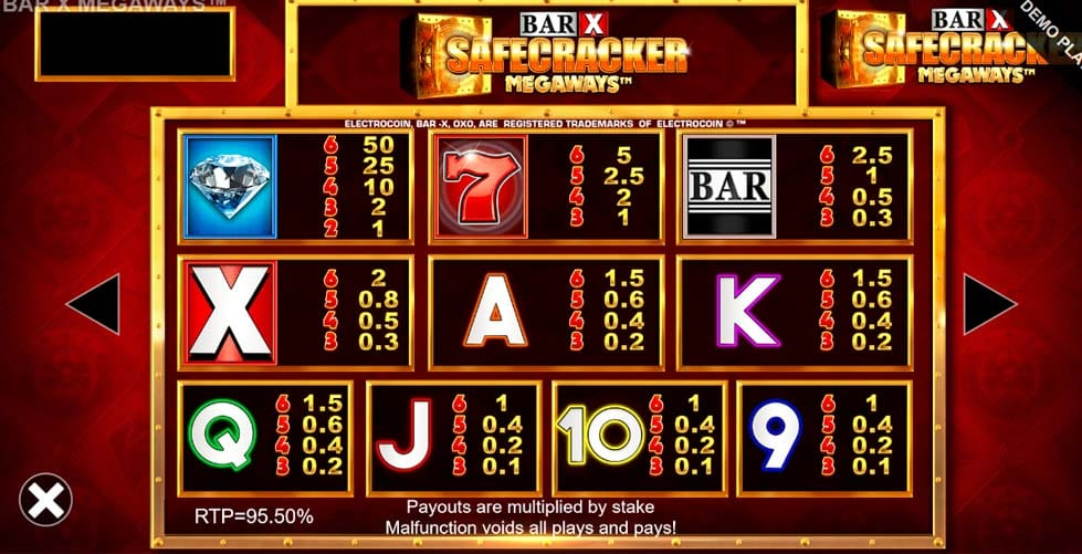 Bar-x Safecracker MegaWays Slots UK