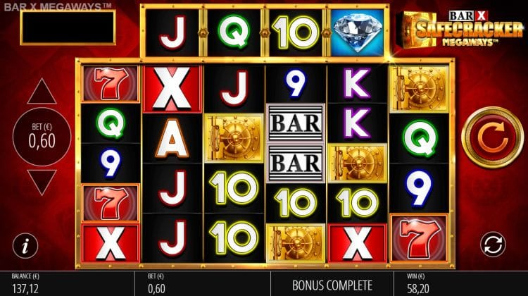 Bar-x Safecracker MegaWays Slots Mega Reel