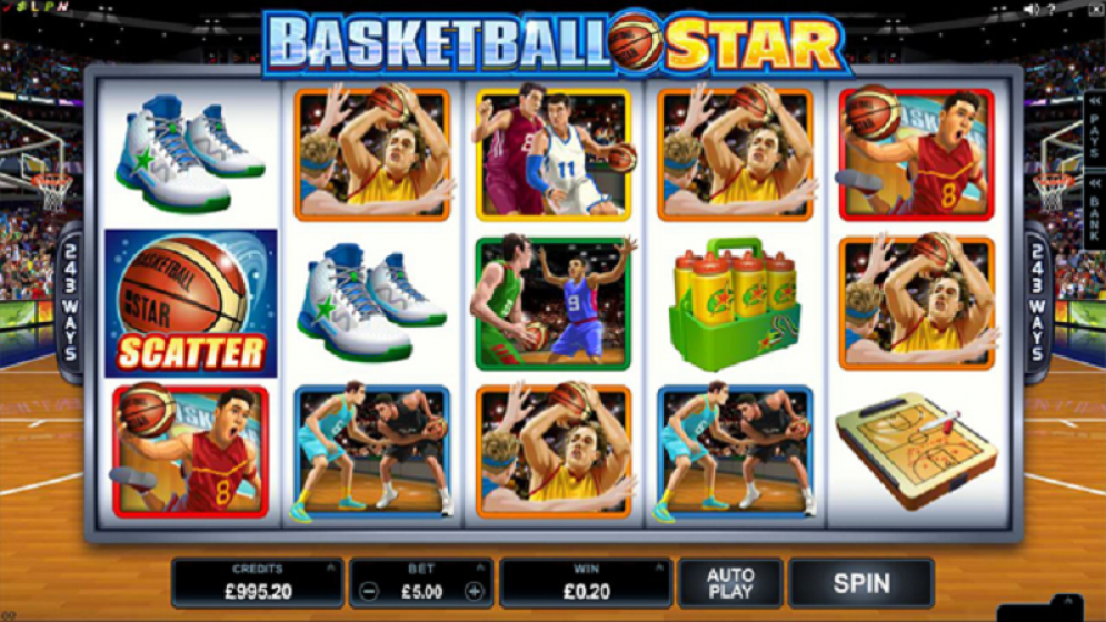 Gameplay from Basketball Star slot