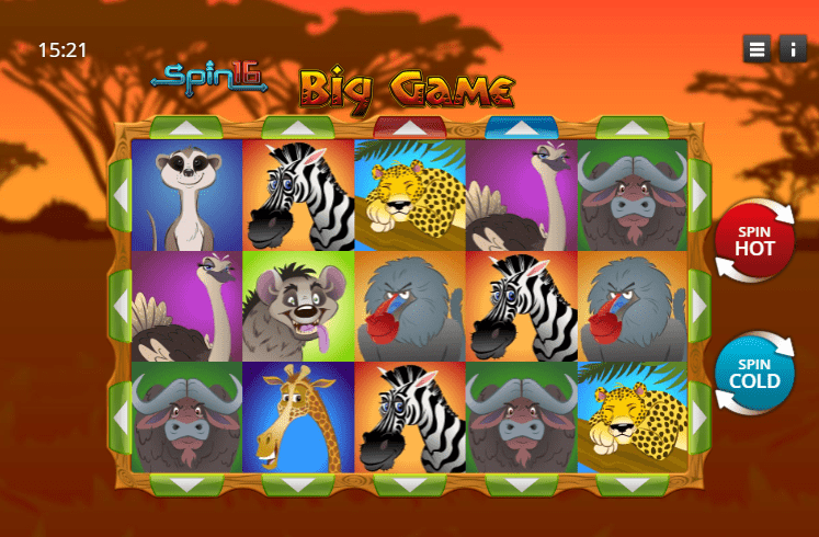 Big Game Spin 16 Gameplay