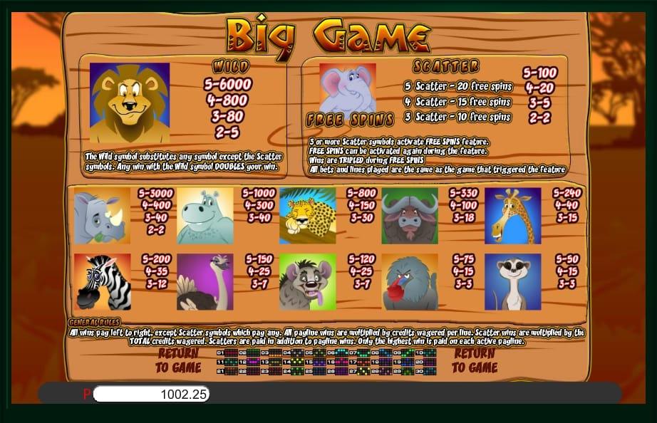 Big Game Slots UK