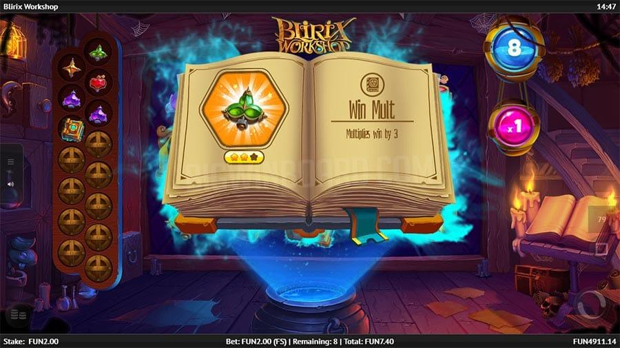 Blirix Workshop Slot Bonus