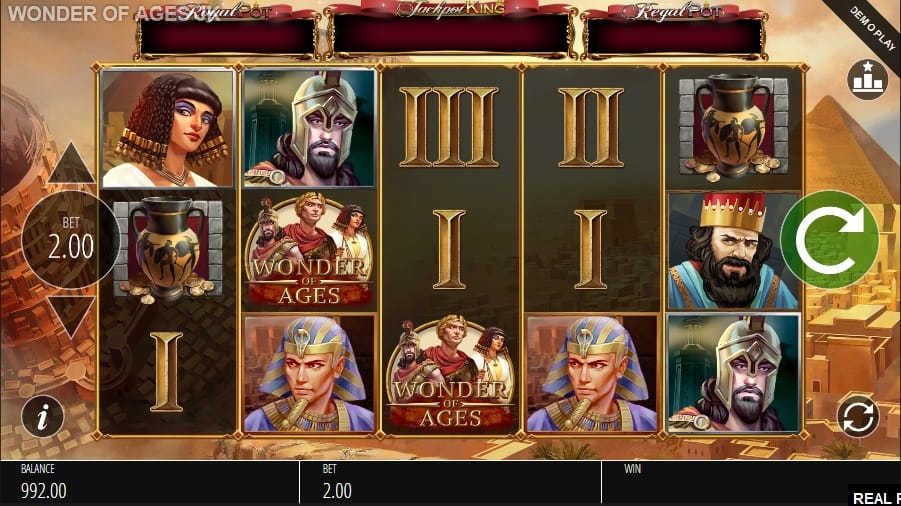 Wonder of Ages Jackpot King Slot