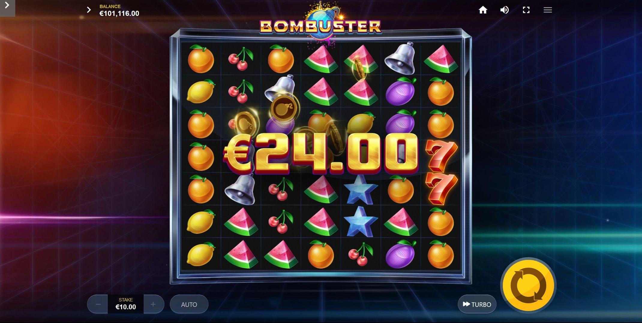 Bombuster Slots Reels