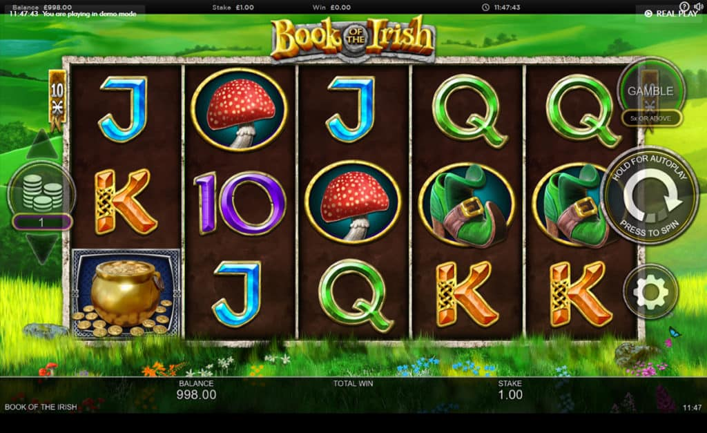 Book of the Irish Slot UK Game