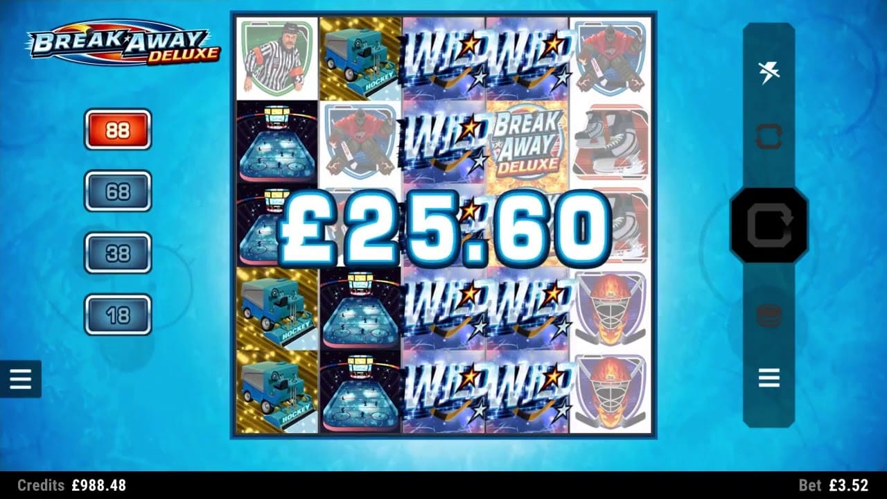 Break Away Deluxe Slot Mega Win