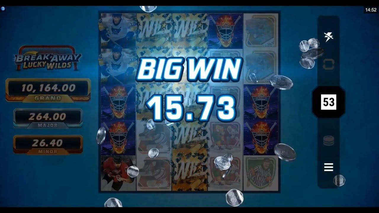 Break Away Lucky Wilds Slots Big Win