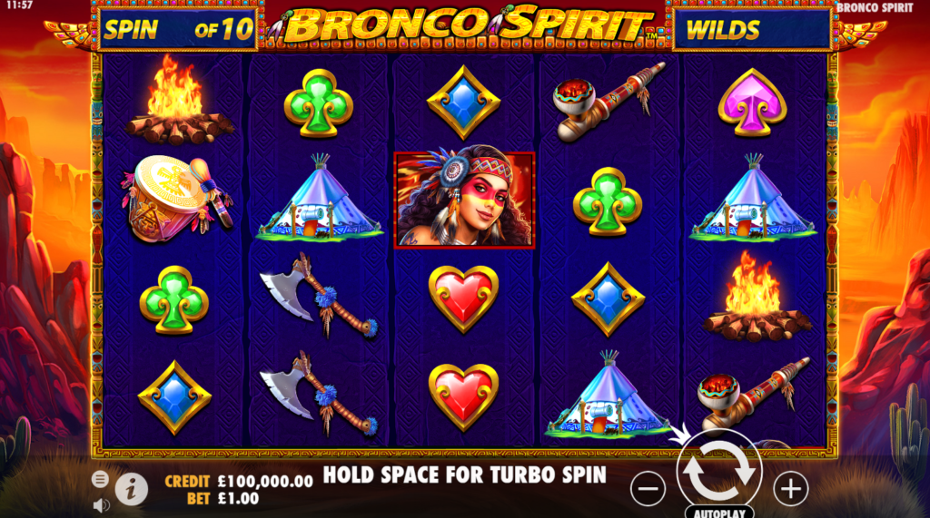 Bronco Spirit Slots Games
