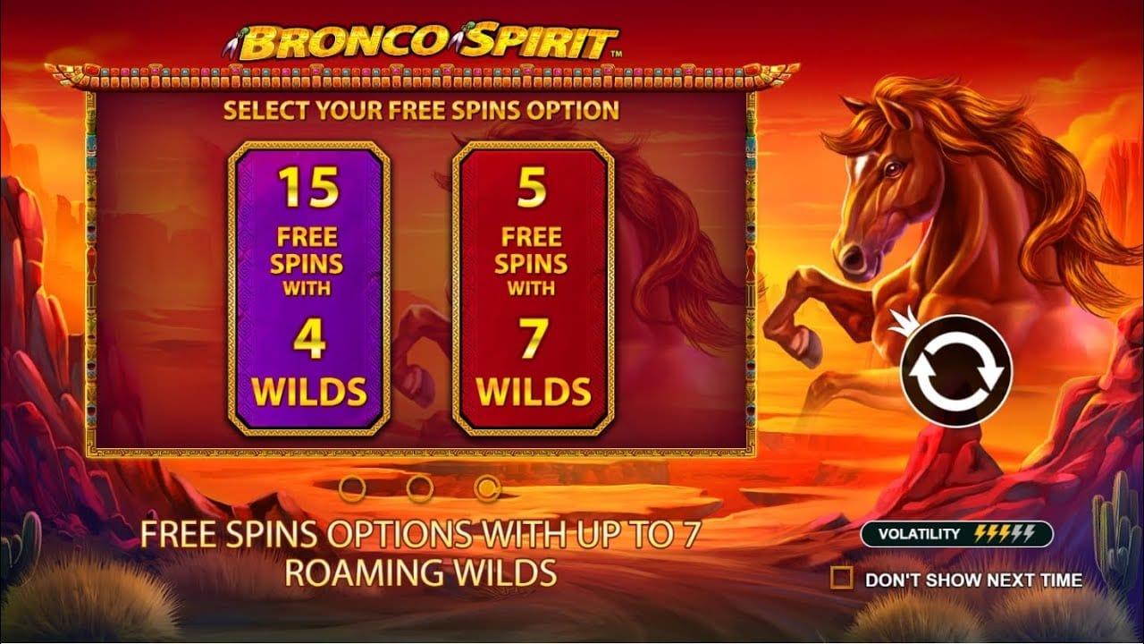 Bronco Spirit Free Spins Slots
