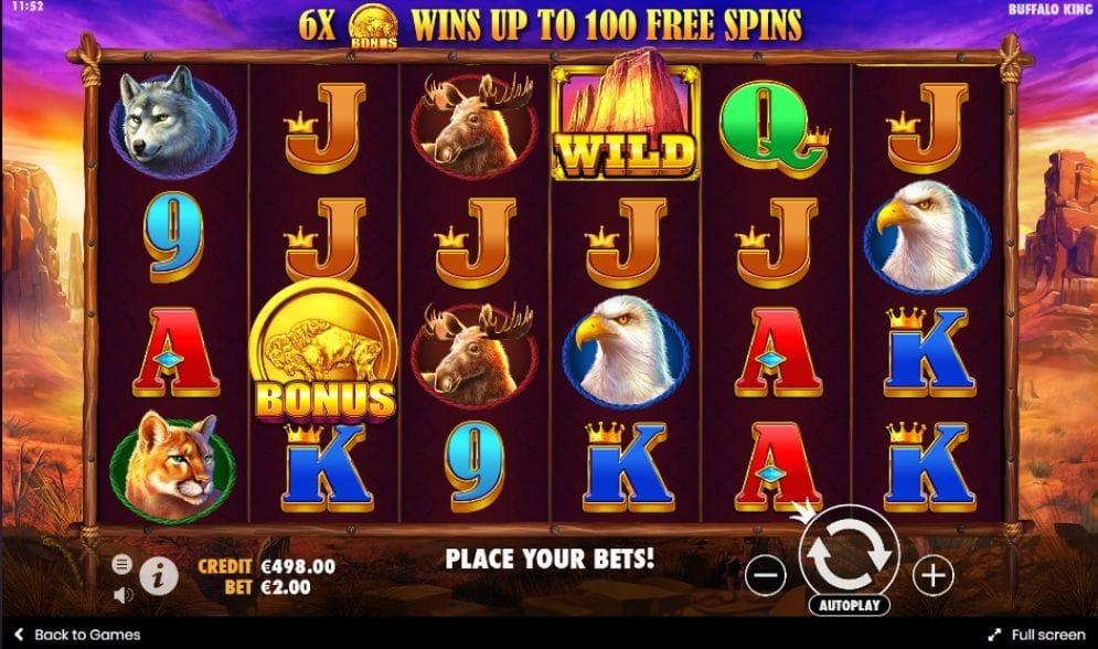 Buffalo King Slots Casino Game